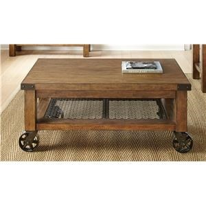 Steve Silver Hailee Cocktail Table with Casters