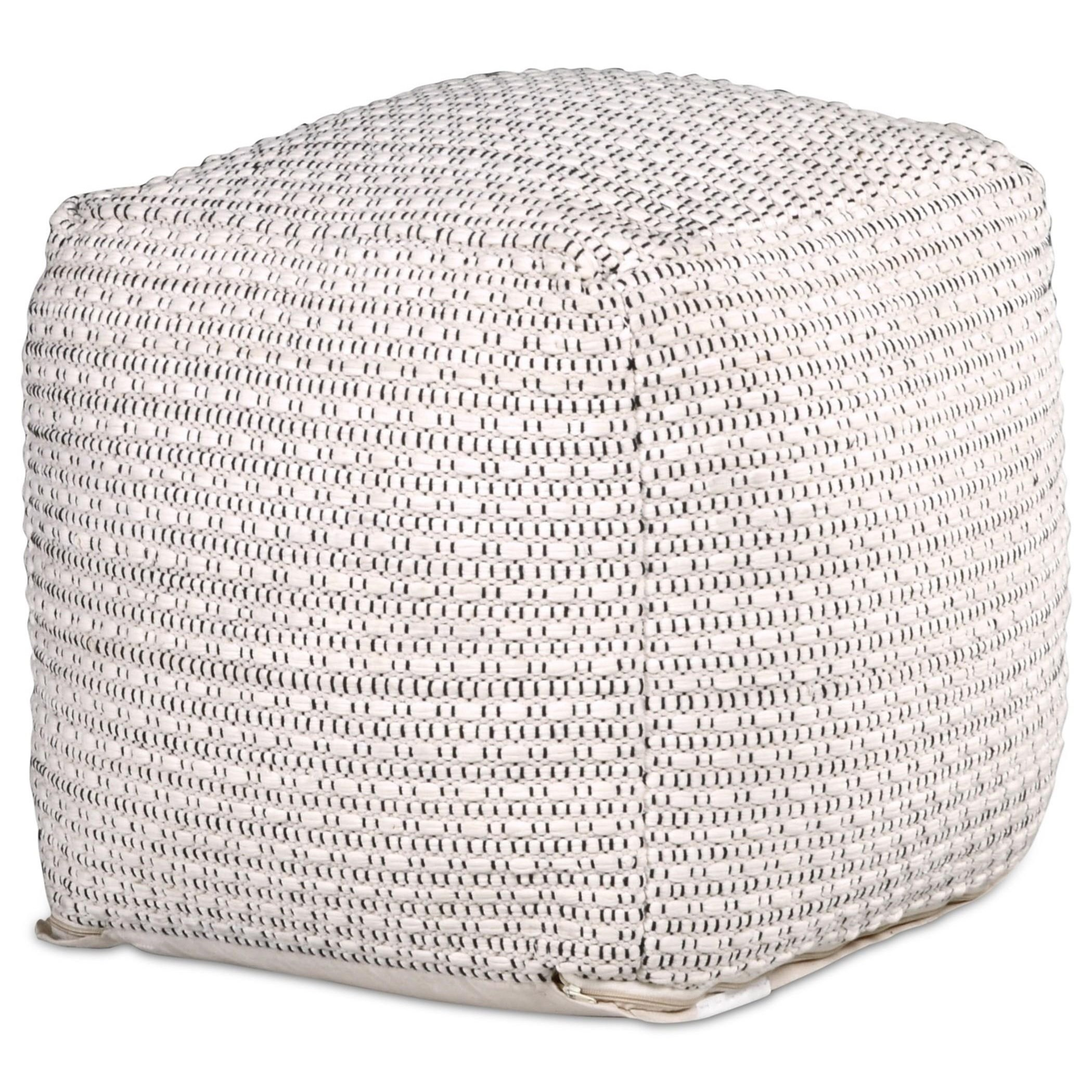 Hakim Handwoven Pouf by Steve Silver at Northeast Factory Direct