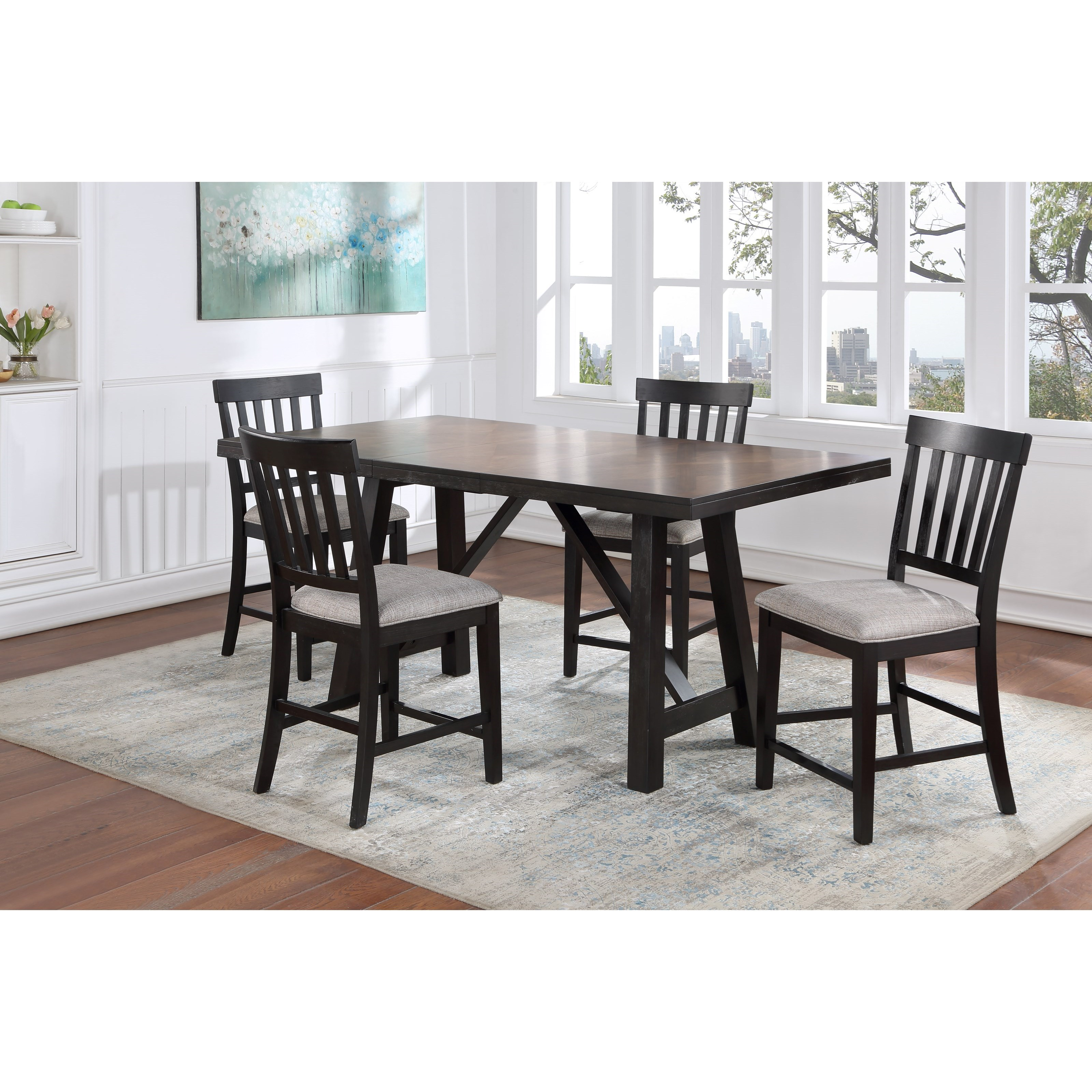 Halle 5-Piece Table and Chair Set by Steve Silver at Walker's Furniture