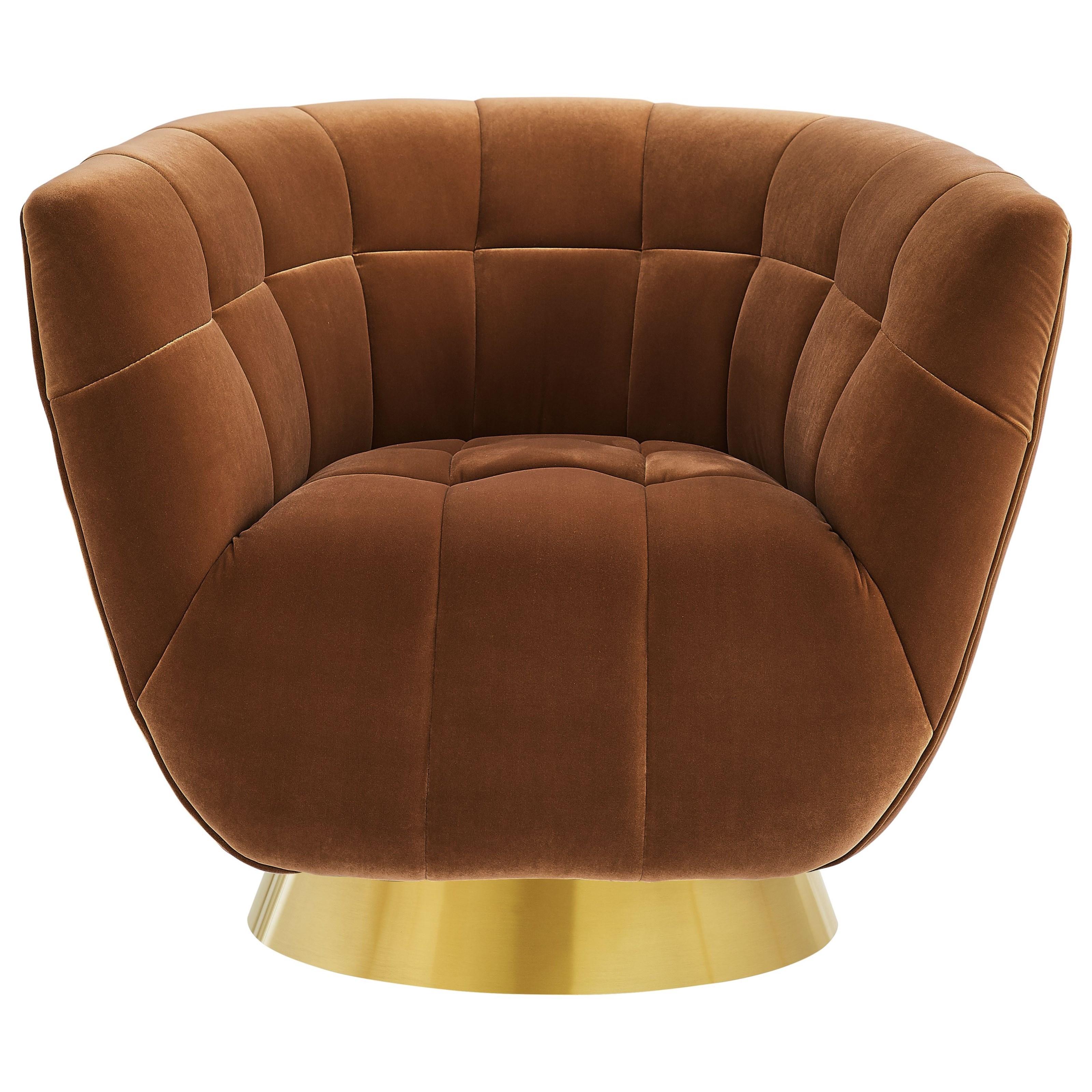 Hanna Velvet Swivel Chair by Steve Silver at Standard Furniture