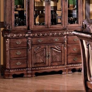 Traditional 2-Door 7-Drawer Buffet