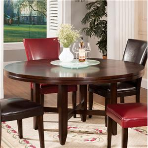 "62"" Round Contemporary Dining Table"