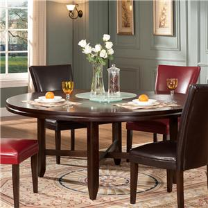 "72"" Round Contemporary Dining Table"