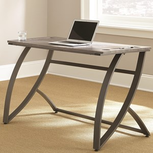Contemporary Desk with Metal Base