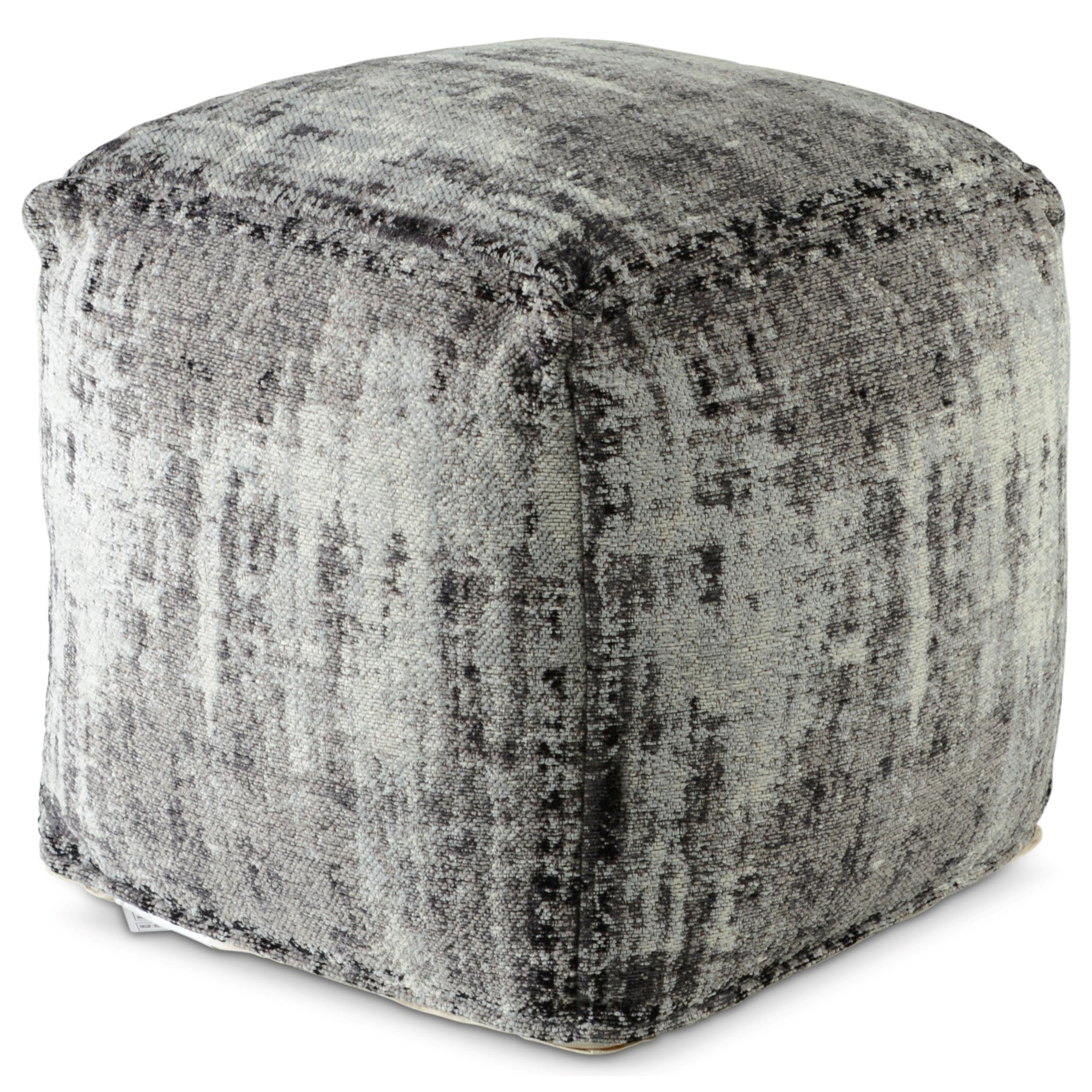 Hazel Handwoven Square Pouf by Star at EFO Furniture Outlet