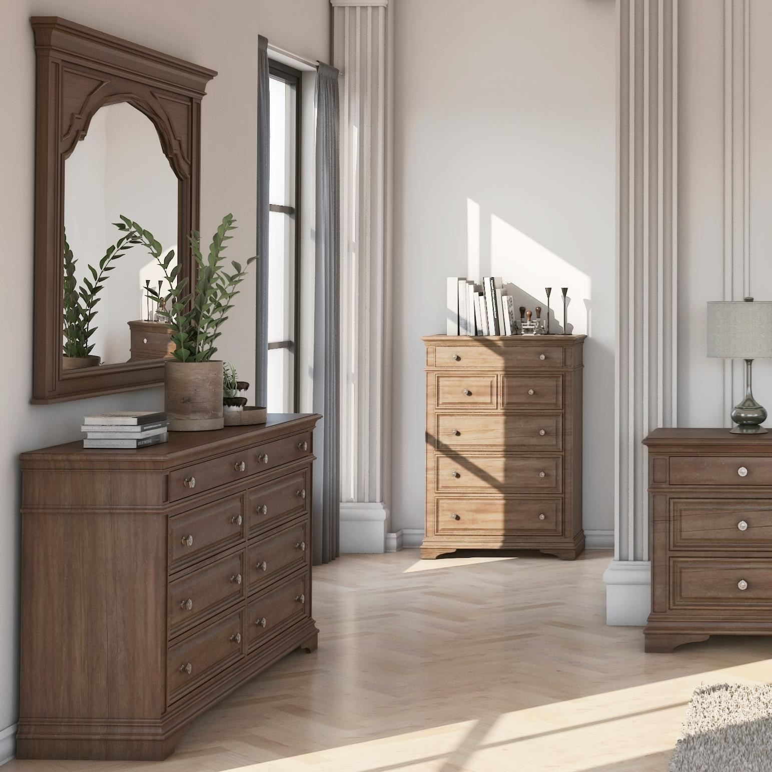 Highland Park Dresser and Mirror Set by Steve Silver at Northeast Factory Direct