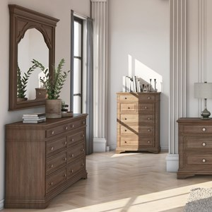 8-Drawer Dresser and Mirror Set