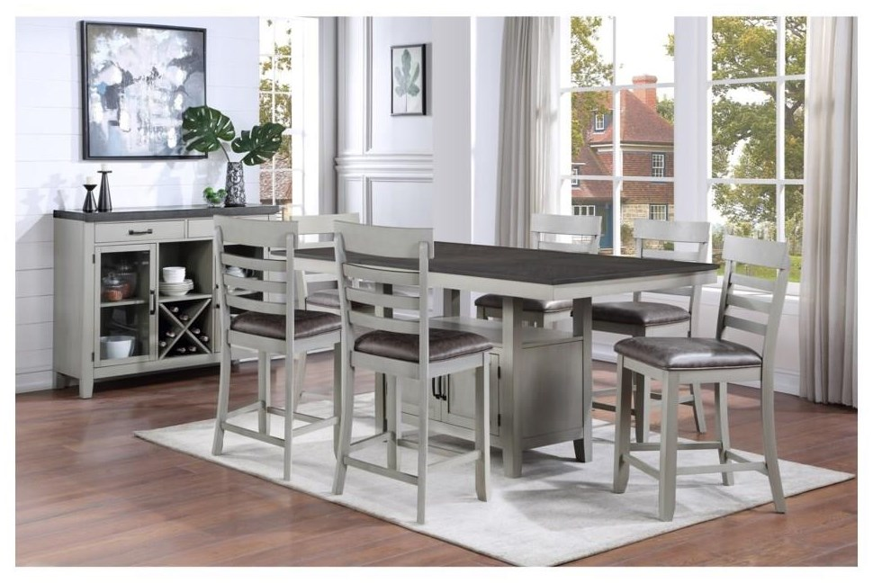 Hyland 5 Piece Counter Height Dining Set by Steve Silver at Darvin Furniture