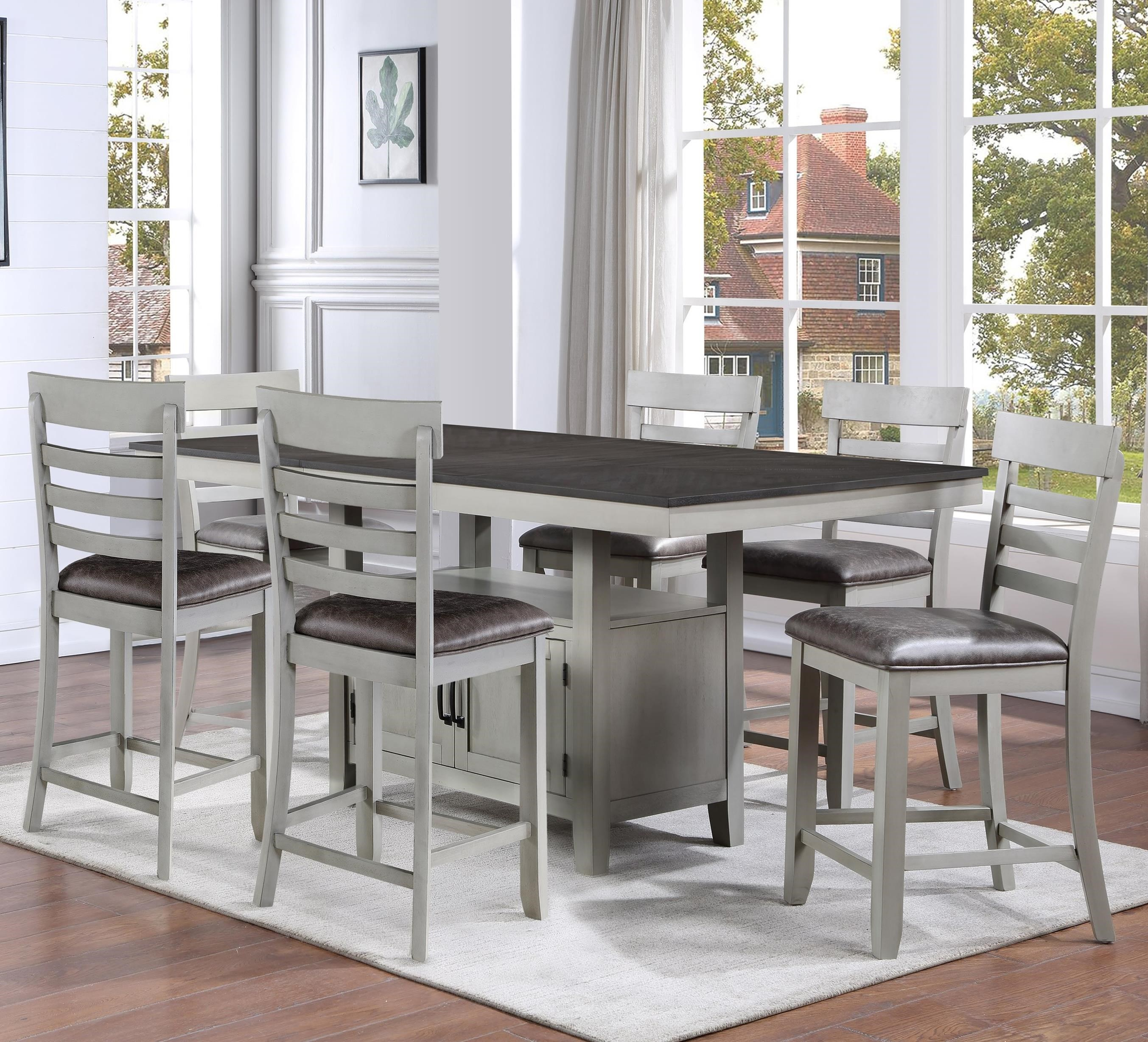 Hyland 7-Piece Counter Table Set by Steve Silver at Walker's Furniture