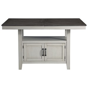 """Two-Tone Counter Table w/ 20"""" Leaf"""
