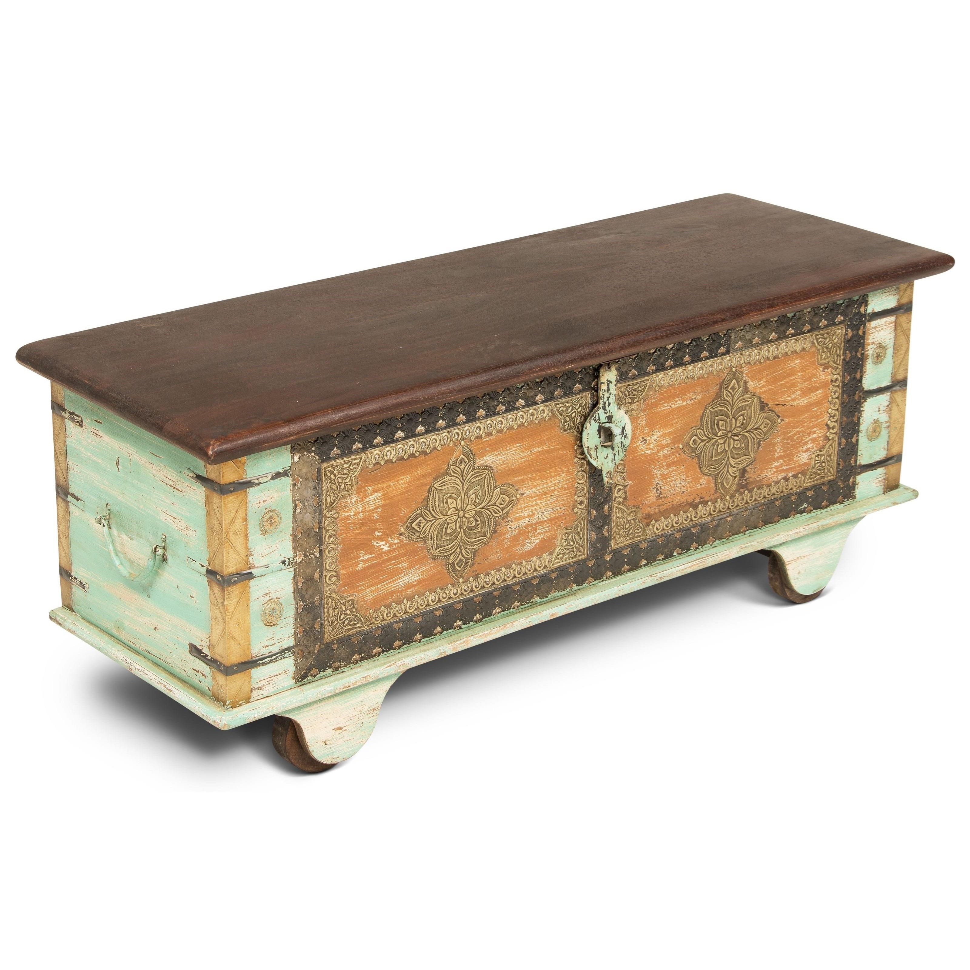 India Accents Alma Storage Trunk at Sadler's Home Furnishings