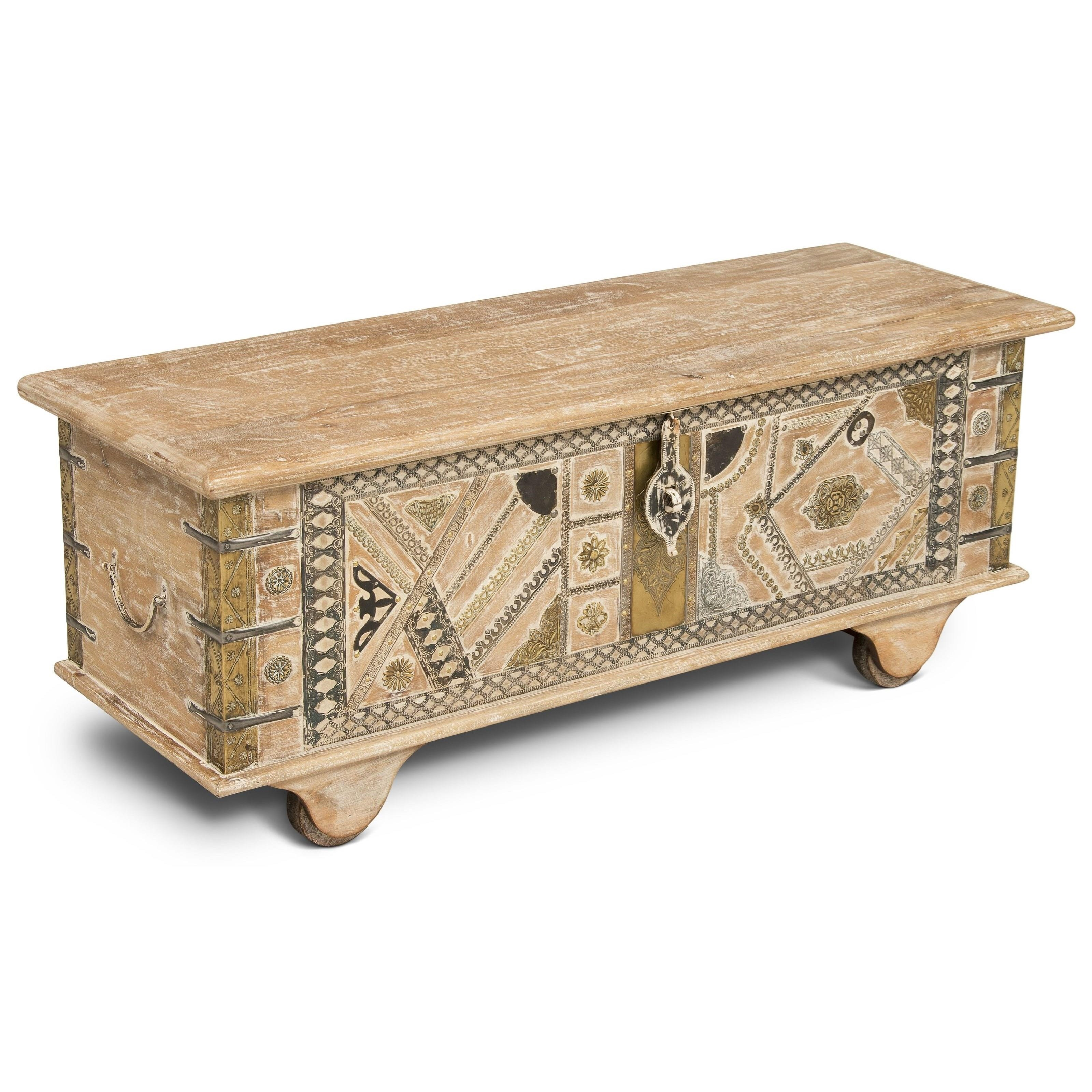 India Accents Amira Storage Trunk by Steve Silver at Walker's Furniture