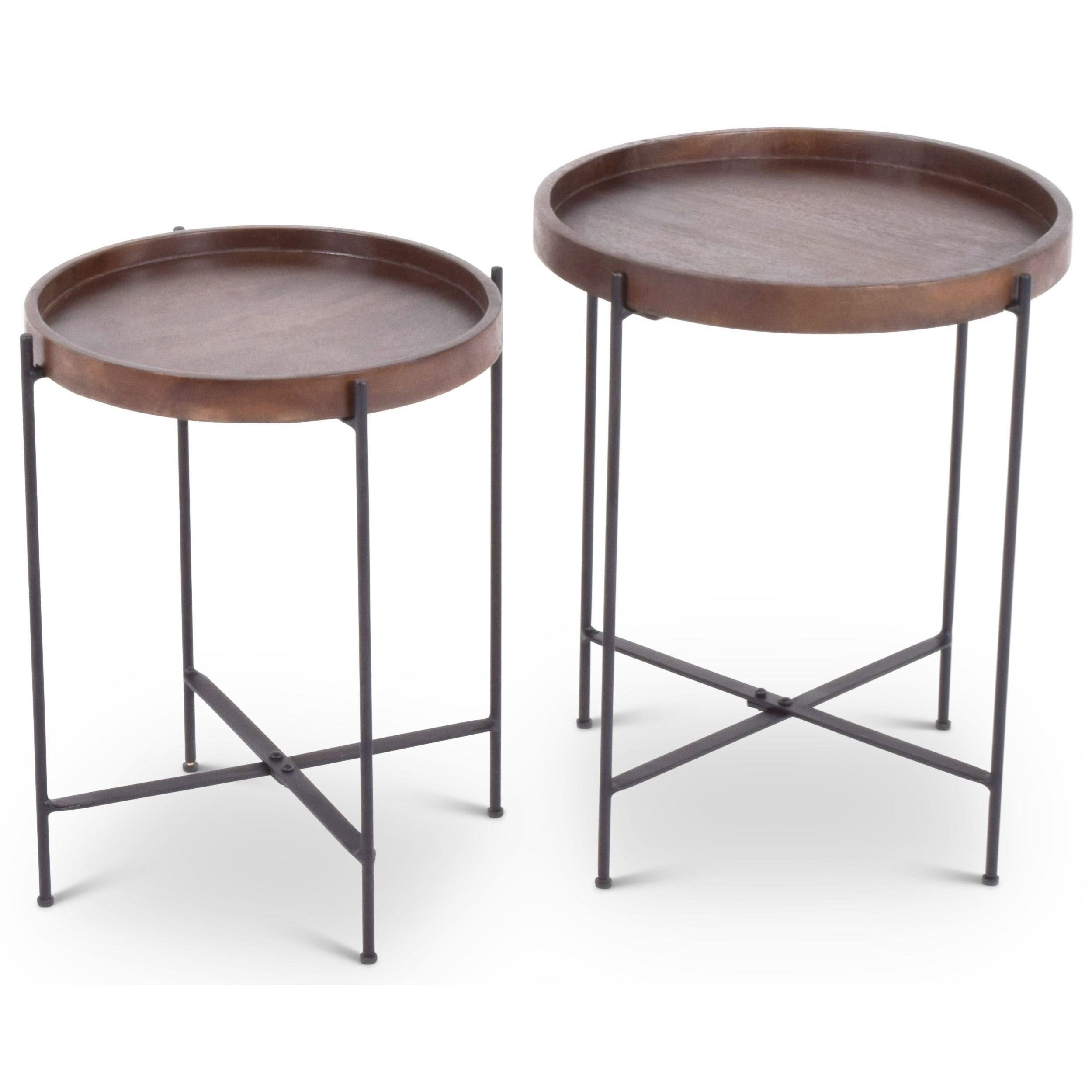 India Accents Capri Nesting Tables by Steve Silver at Walker's Furniture