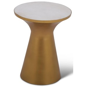 Contemporary Jaipur Round Table with White Marble Inlay
