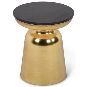 Contemporary Jovana Round End Table