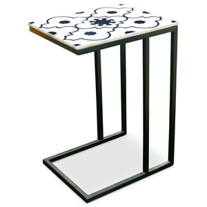 Contemporary Lara Marble Top Sofa Server Table