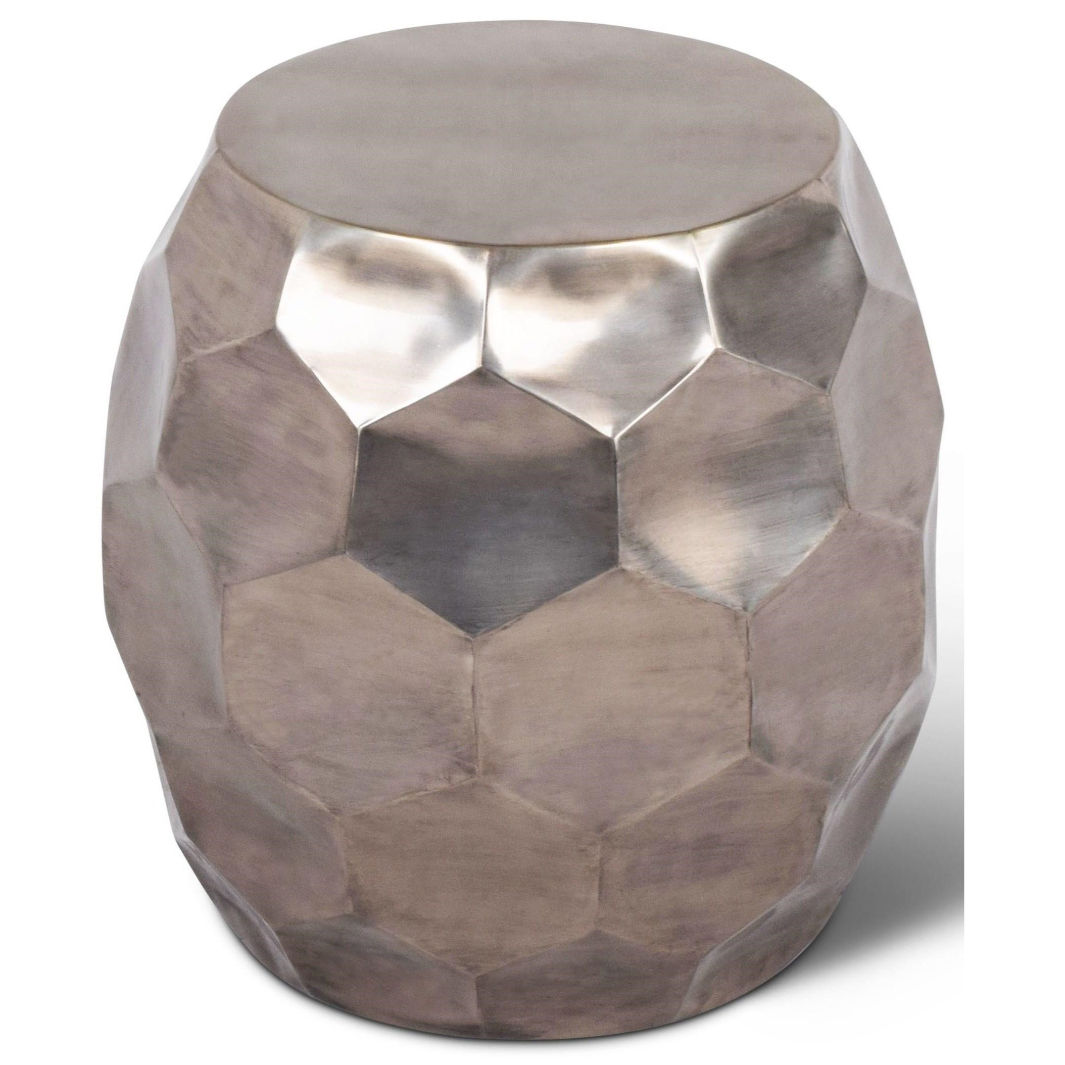 India Accents Stomp Round End Table by Steve Silver at Walker's Furniture