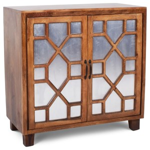 Contemporary Savannah Cabinet with Iron Door Fronts