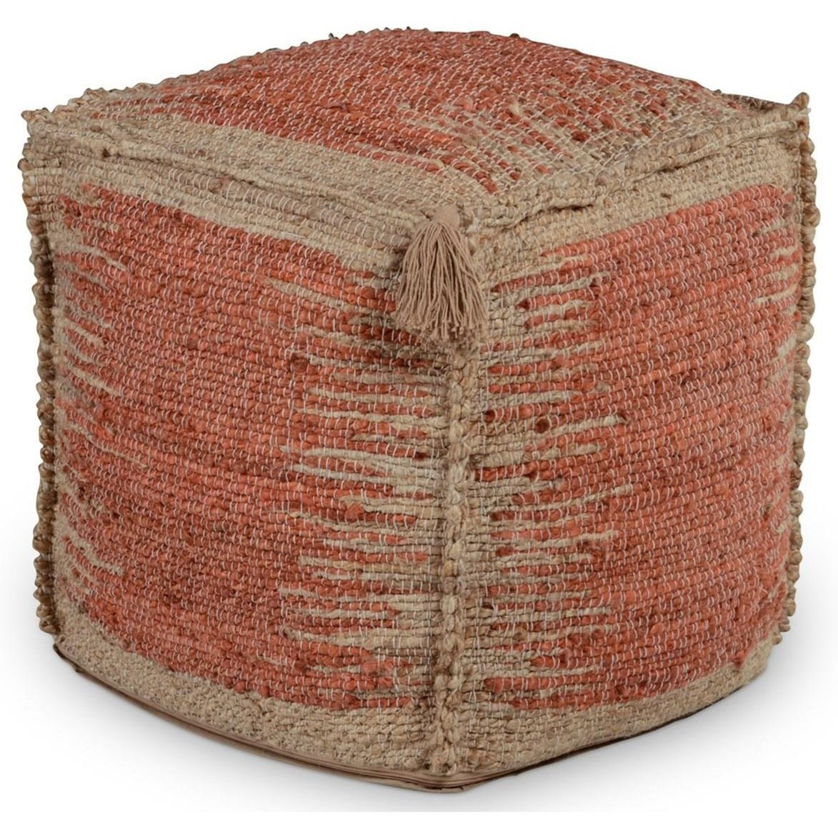 Jafar Handwoven Pouf by Steve Silver at Northeast Factory Direct