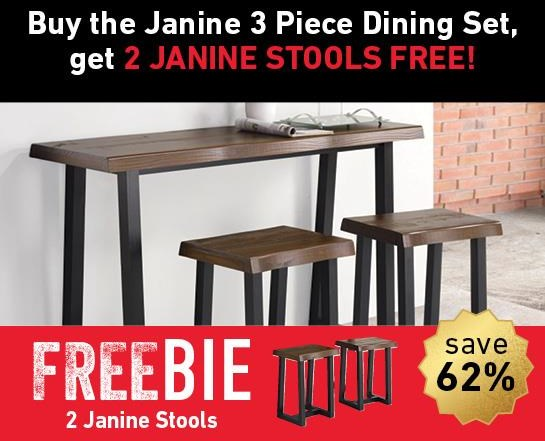 Janine Janine Dining Set with Freebie! by Steve Silver at Morris Home