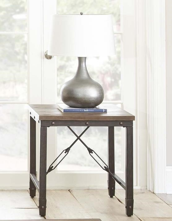 Jersey Jersey End Table by Steve Silver at Morris Home
