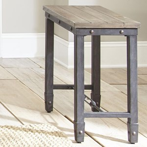 Industrial Chairside Table with Iron Base