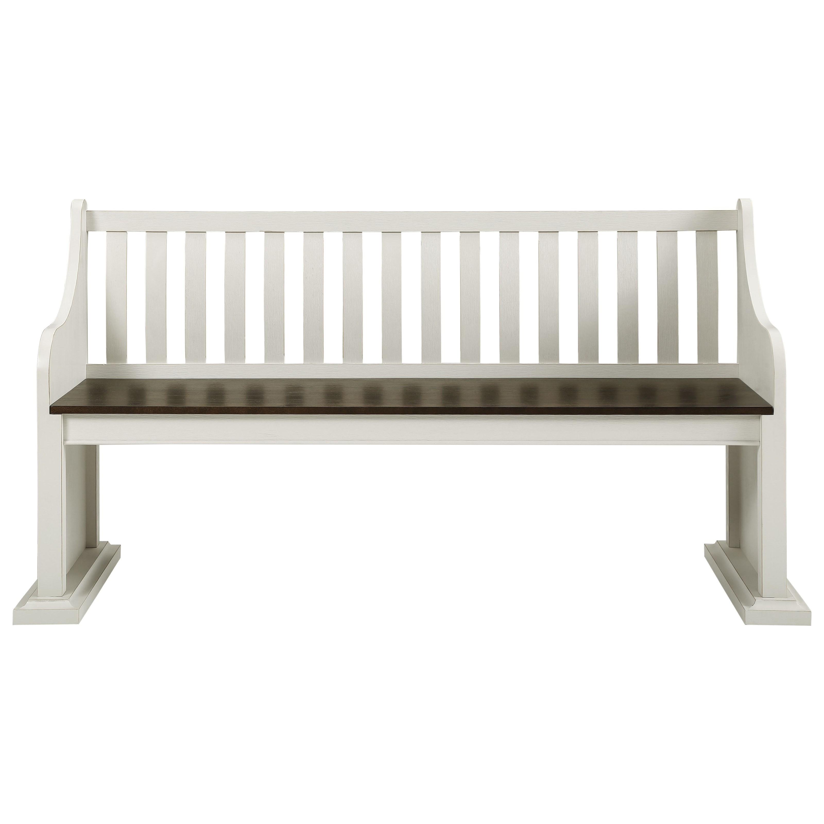 Joanna Bench with Back by Steve Silver at Walker's Furniture