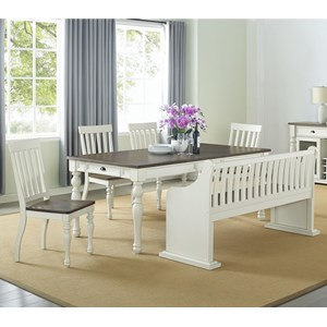 Dining Set with Bench with Back