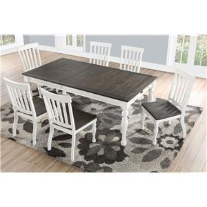 Farmhouse Table and Six Chair Set