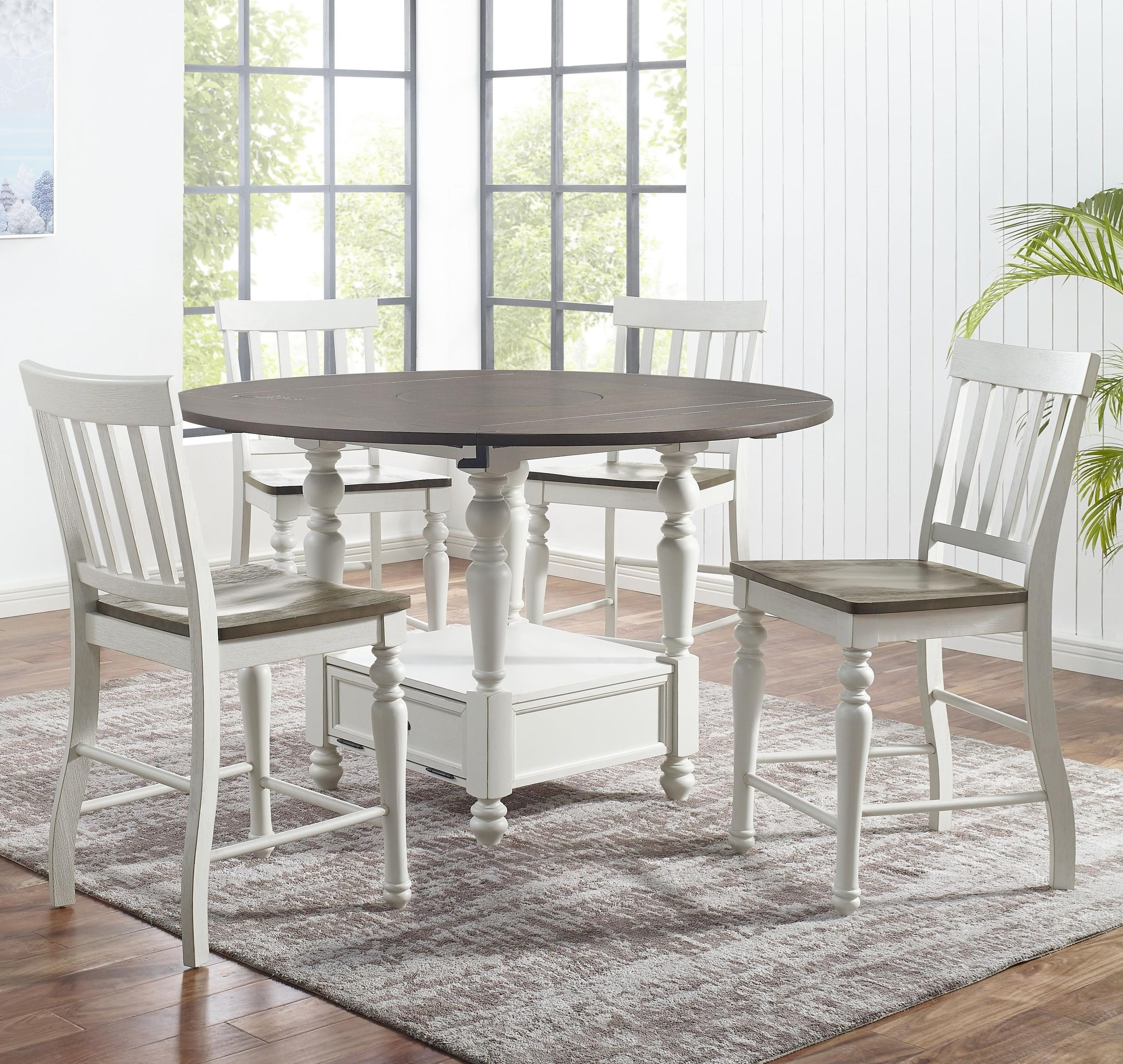 Joanna 5-Piece Round Counter Table Set by Steve Silver at Standard Furniture