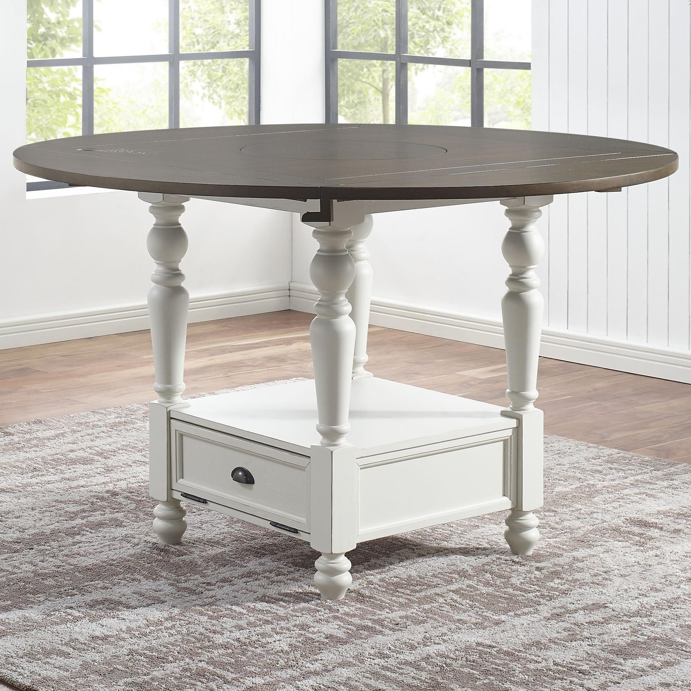 Joanna Round Counter Table by Steve Silver at Walker's Furniture