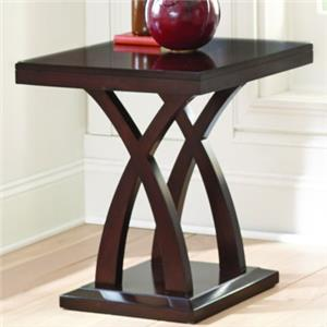 End Table with X Base