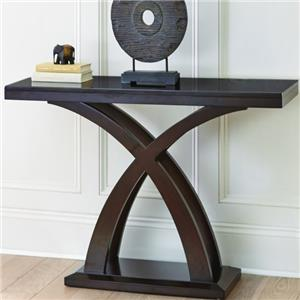Sofa Table with Decorative X Base