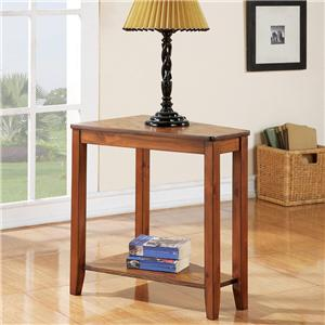 Casual Chairside End Table with Shelf