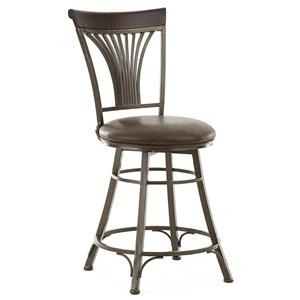 Swivel Counter Chair with Fanned Slat Design