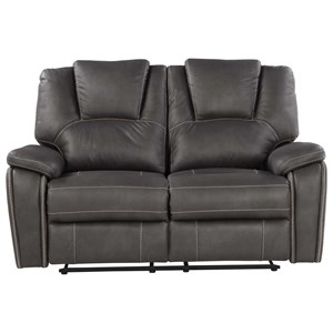 Manual Motion Loveseat with Padded Headrest
