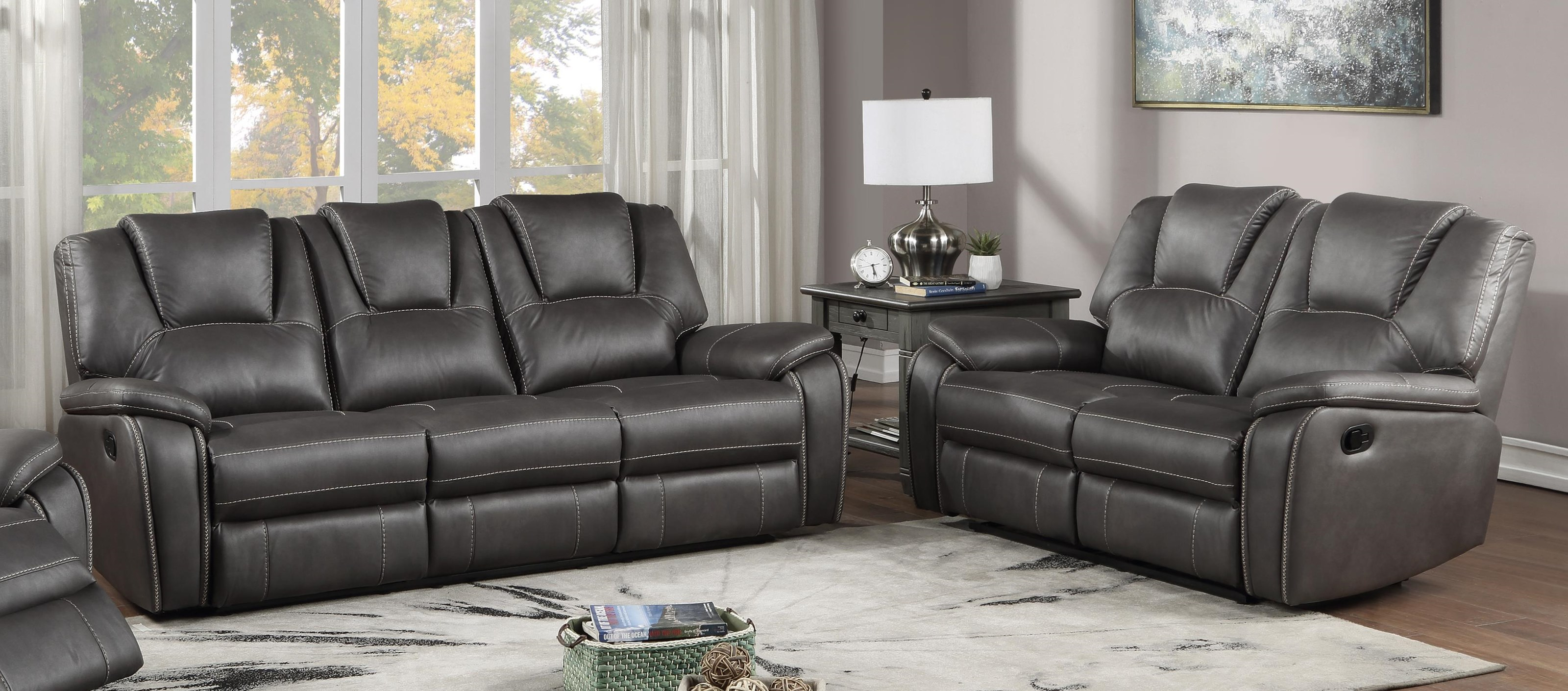 Katrine Reclining Sofa and Loveseat Set by Steve Silver at Sam Levitz Outlet