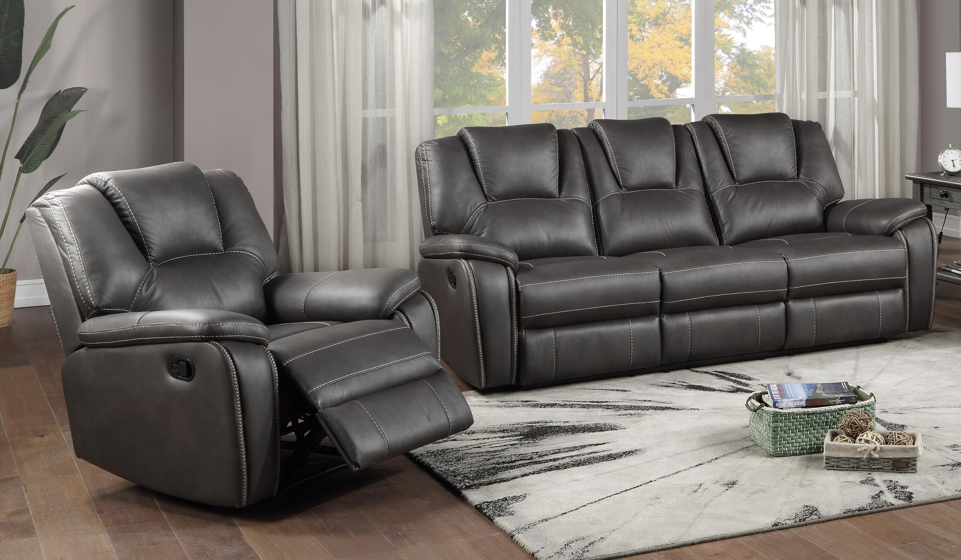 Katrine Reclining Sofa and Recliner Set by Steve Silver at Sam Levitz Outlet