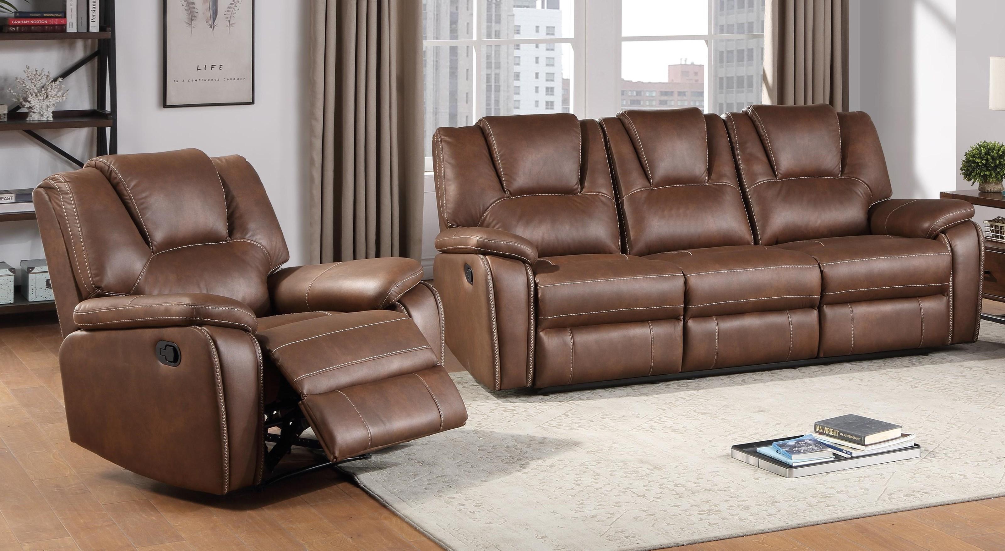 Reclining Sofa and Recliner Set
