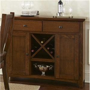 Server with 2 Doors and Wine Storage