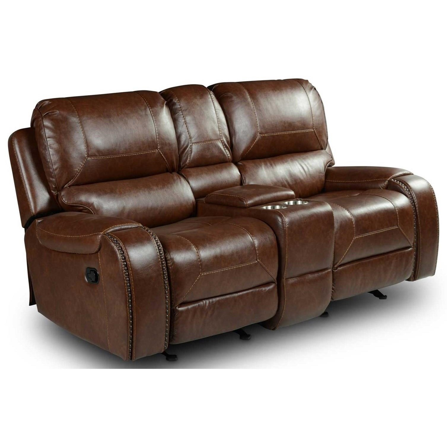 Keily Manual Motion Glider Recliner Loveseat by Steve Silver at Smart Buy Furniture