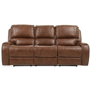 Manual Motion Recliner Sofa with Dropdown Table