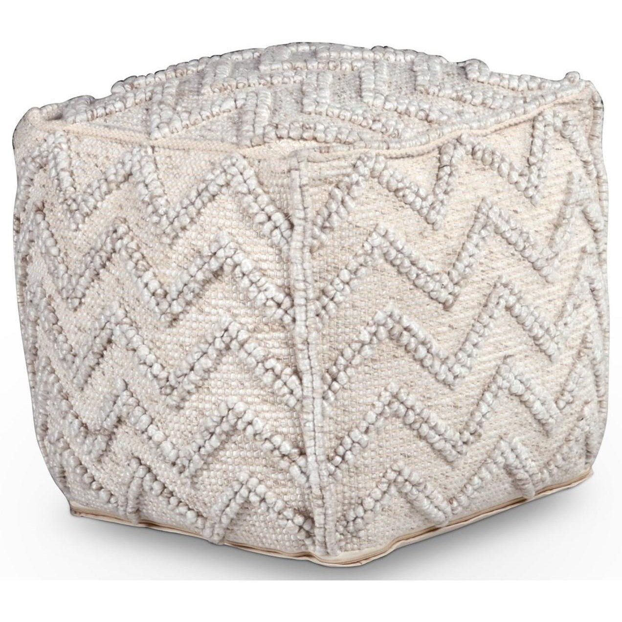 Kenzari Handwoven Pouf by Star at EFO Furniture Outlet
