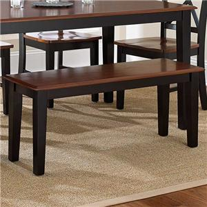 Casual Two-Tone 2-Seat Dining Bench