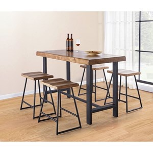 Contemporary Counter Height Table and Stool Set