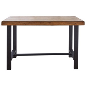 Contemporary Counter Height Table with Iron Base