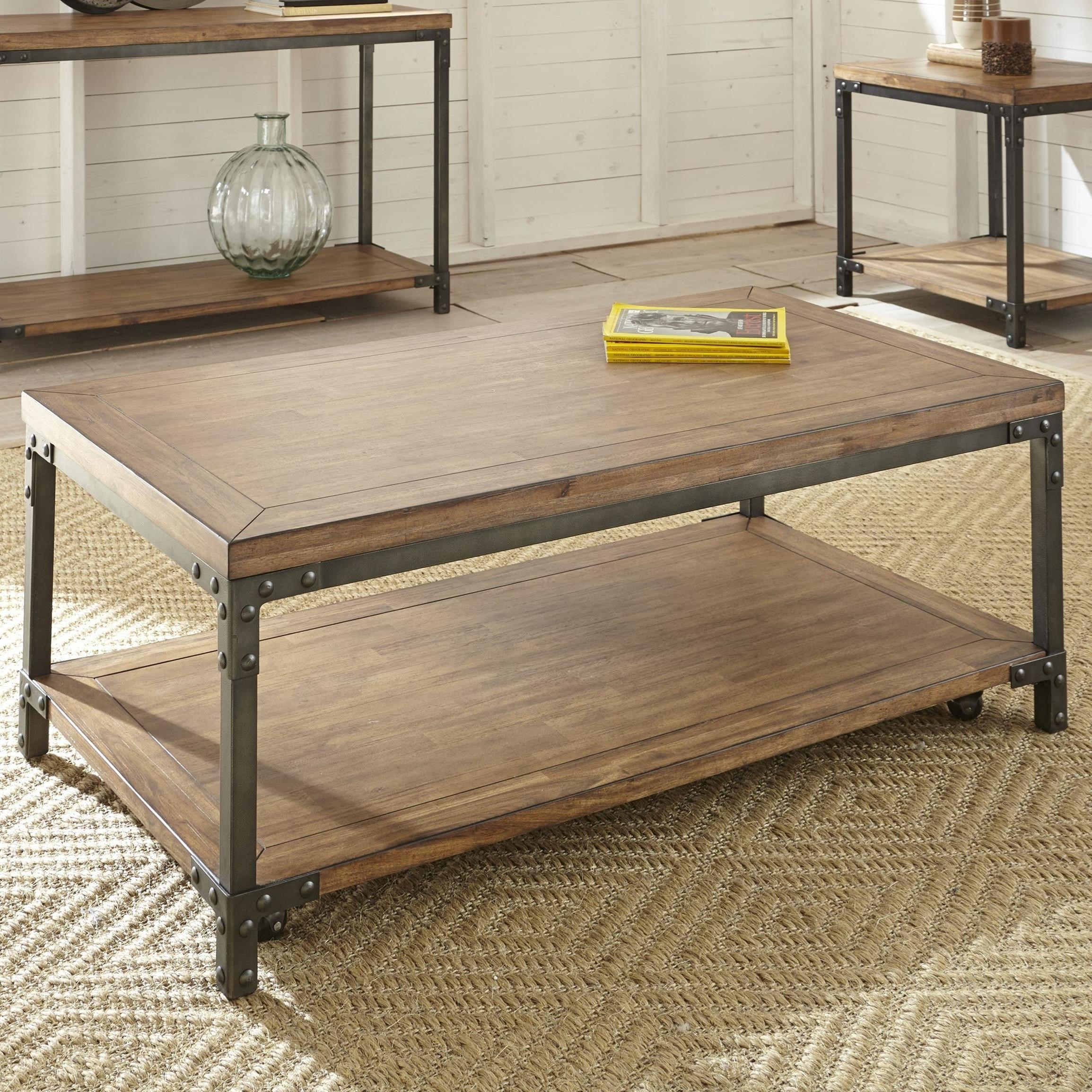 Lantana Cocktail Table with Casters by Steve Silver at Walker's Furniture