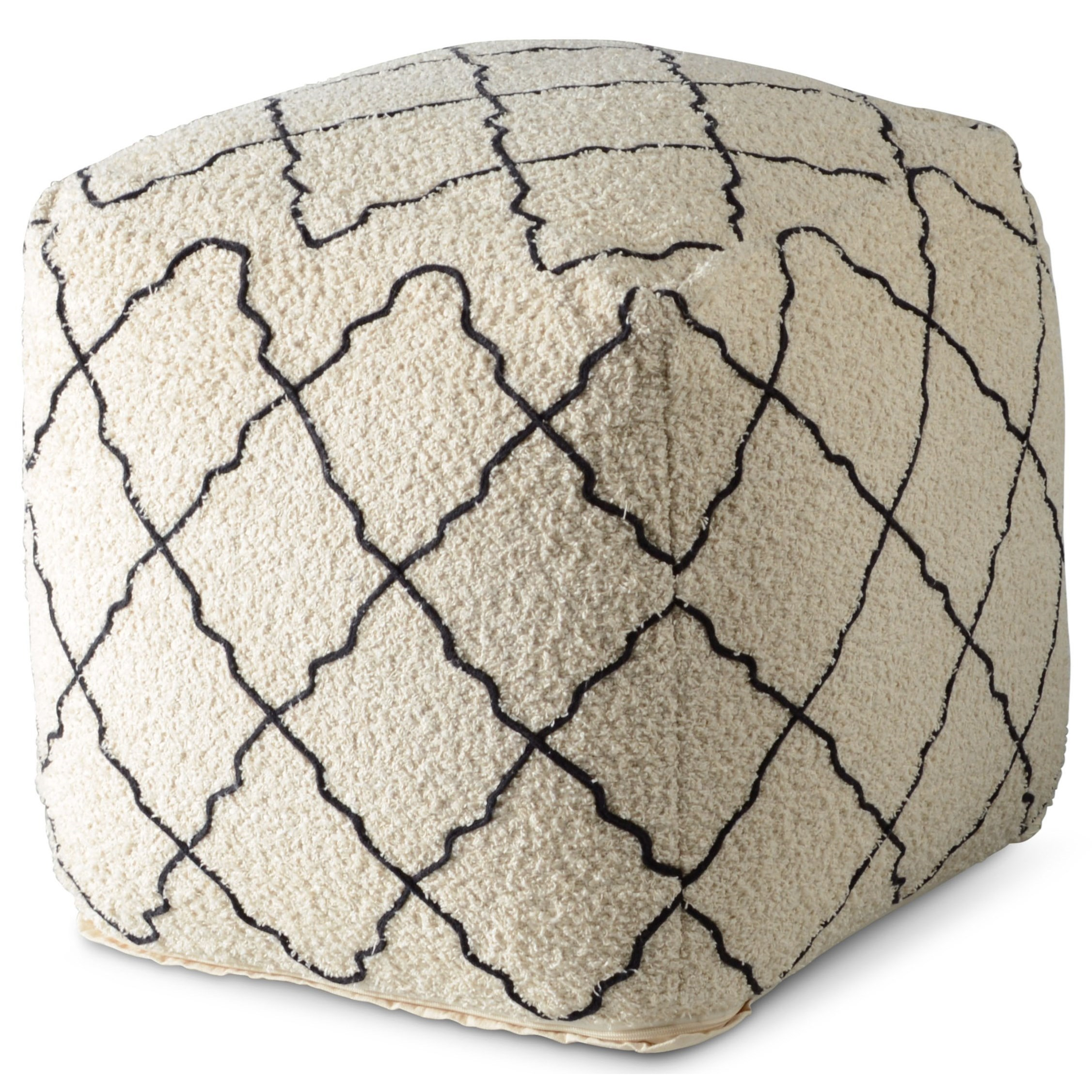 Lattice Handwoven Square Pouf by Star at EFO Furniture Outlet