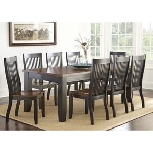 Transitional Nine Piece Dining Set