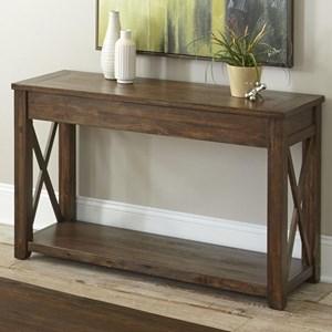 Rustic Farmhouse Sofa Table with Shelf